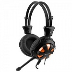 A4Tech HS-28-3 567949 orange/Black Гарнитура стерео 1.8 м