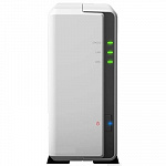 Synology DS120j Сетевое хранилище DC 800MhzCPU/ 512Mb/ up to 1HDDs/ SATA3,5''/ 2xUSB2.0/ 1GigEth/ iSCSI/ 2xIPcam up to 5/ 1xPS/ 2YW""