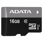 Micro SecureDigital 16Gb A-DATA AUSDH16GUICL10-RA1 MicroSDHC Class 10 UHS-I, SD adapter