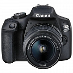 "Canon EOS 2000D черный 24.1Mpix 18-55mm f/3.5-5.6 III 3"" 1080p Full HD SDXC Li-ion с объективом"