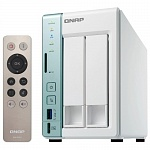 QNAP D2 PRO Сетевой RAID-накопитель, 2 отсека для HDD, с функцией USB Quick Access, HDMI-порт. Intel Celeron N3060 1,6 ГГц до 2,48 ГГц, 1 ГБ