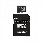 Micro SecureDigital 8Gb QUMO QM8GMICSDHC10 MicroSDHC Class 10, SD adapter