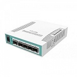 MikroTik CRS106-1C-5S Коммутатор Cloud Router Switch with QCA8511 400MHz CPU, 128MB RAM, 1x Combo port Gigabit Ethernet or SFP, 5 x SFP