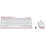 920-008212 Logitech Wireless Combo MK 240 Nano White-red