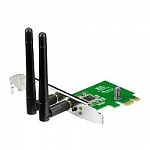 ASUS PCE-N15 WiFi Adapter PCI-E PCI-Ex1, WLAN 300Mbps, 802.11bgn 2x ext Antenna