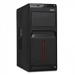 Exegate EX247933RUS Корпус Miditower Exegate AB-221 Black, без БП, ATX, USB, Audio