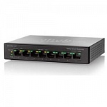 Cisco SB SF110D-08HP-EU Коммутатор 8-Port 10/100 PoE Desktop Switch