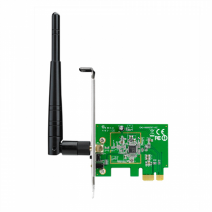 ASUS PCE-N10 WiFi Adapter PCI-E PCI-Ex1, WLAN 150Mbps, 802.11bgn 1x ext Antenna