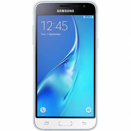 "Samsung Galaxy J3 2016 SM-J320F/DS white белый 5"",1280 x 720,4G LTE, Wi-Fi, GPS, ГЛОНАСС,8 МП+5МП,8 Гб,microSD,Android 5.1 SM-J320FZWDSER"